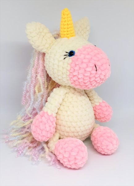 Häkeltier Einhorn Amigurumi gehäkelt Kuscheltier Unicorn NEU Handmade