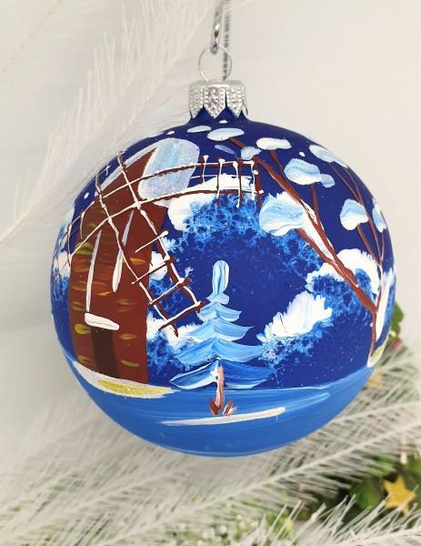"""Weihnachtsbaumkugel """"Mühle"""" Handbemalt, Weihnachtsgeschenke, Christbaumschmuck"""