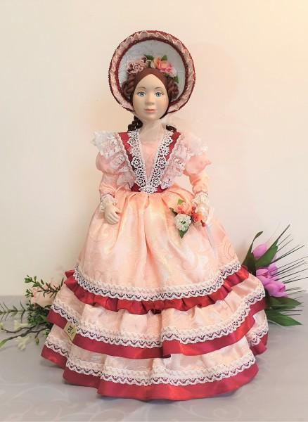 Exklusive Teehaube, Puppe Rosa Lady, Teewärmer, Porzellan Puppen