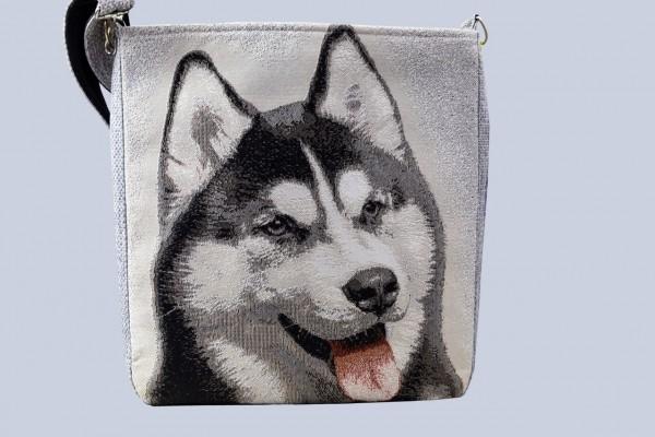 """Gobelin Tasche, Schultertasche für Jugendliche """"Siberian Husky"""""""