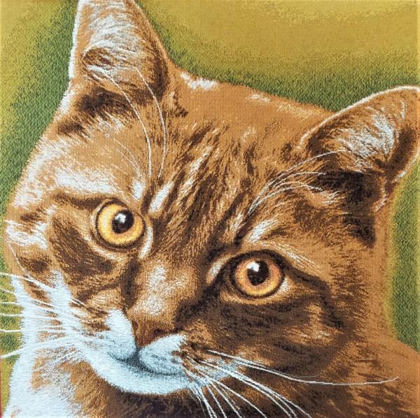 """Gobelinbild """"Ingwer Katze"""""""