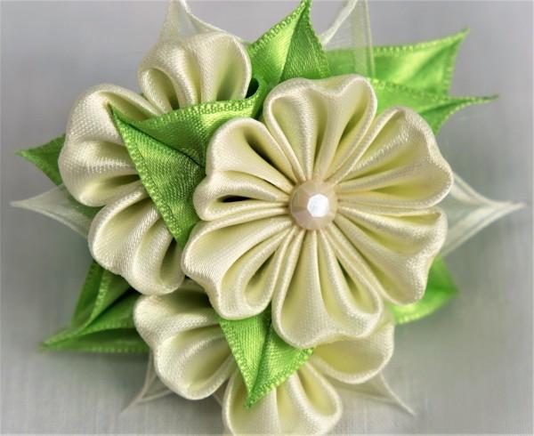 Haargummi mit drei Blumen, Haarschmuck für Mädchen
