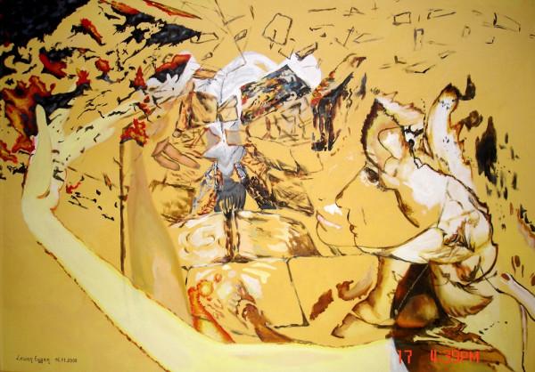 "Acrylgemälde ""Maria"", Abstrakt"