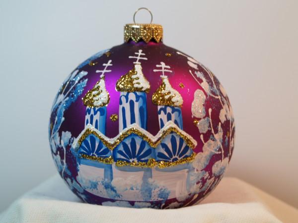 """Weihnachtskugel """"Kleine Kirche"""""""