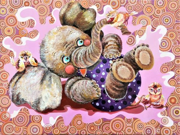 "Acrylbild für Kinderzimmer ""Lustige Freunde"", Acrylgemälde direkt vom Künstler"