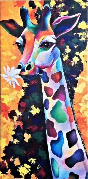 """Kunstdruck vom Künstler """"Bunte Giraffe"""""""
