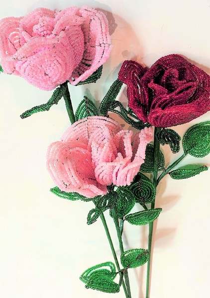 Rose aus Perlen