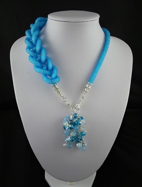 Lariat, Perle häkeln Seil Halskette, Häkelkette Halskette