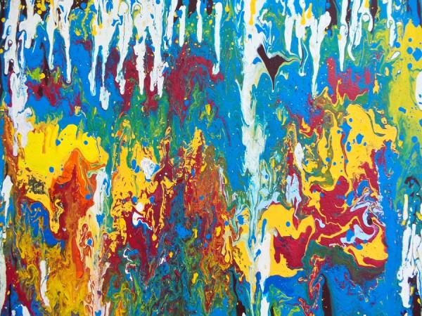 "Acrylgemälde ""Farbenspiel"", Acrylic Fluid Painting"